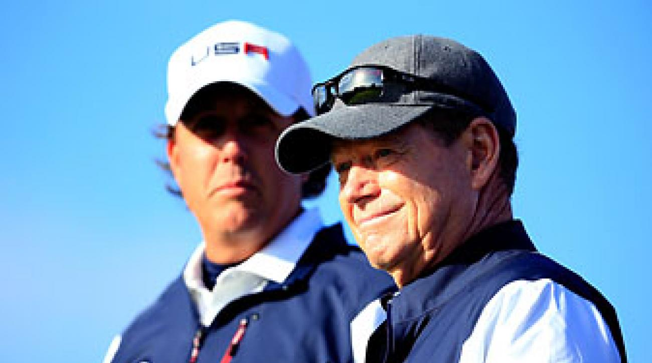 U.S. team captain Tom Watson and his veteran star Phil Mickelson didn't see eye-to-eye at Gleneagles.