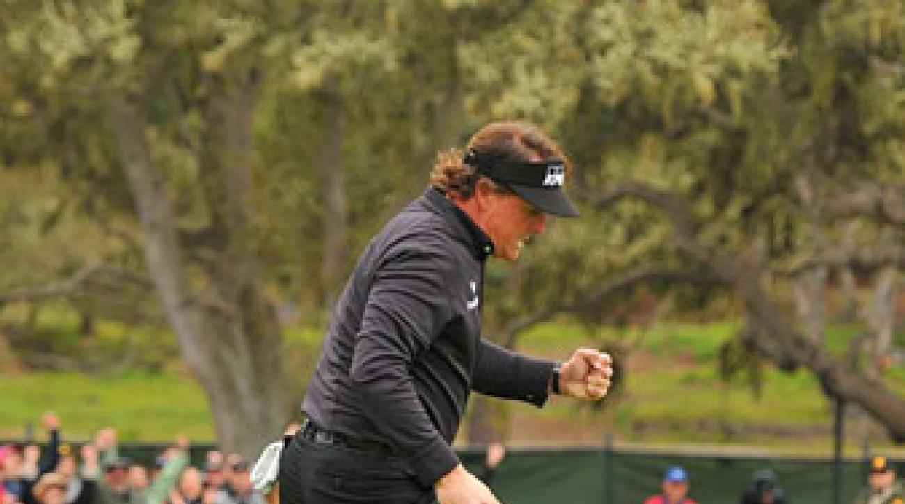 Mickelson was brilliant on Sunday at Pebble, shooting an eight-under 64 to win by two strokes.