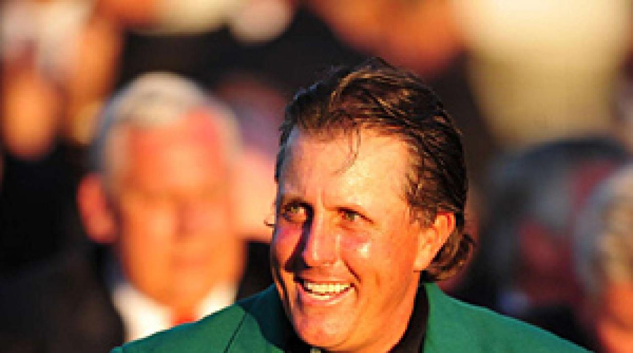 Phil Mickelson earned his third green jacket.