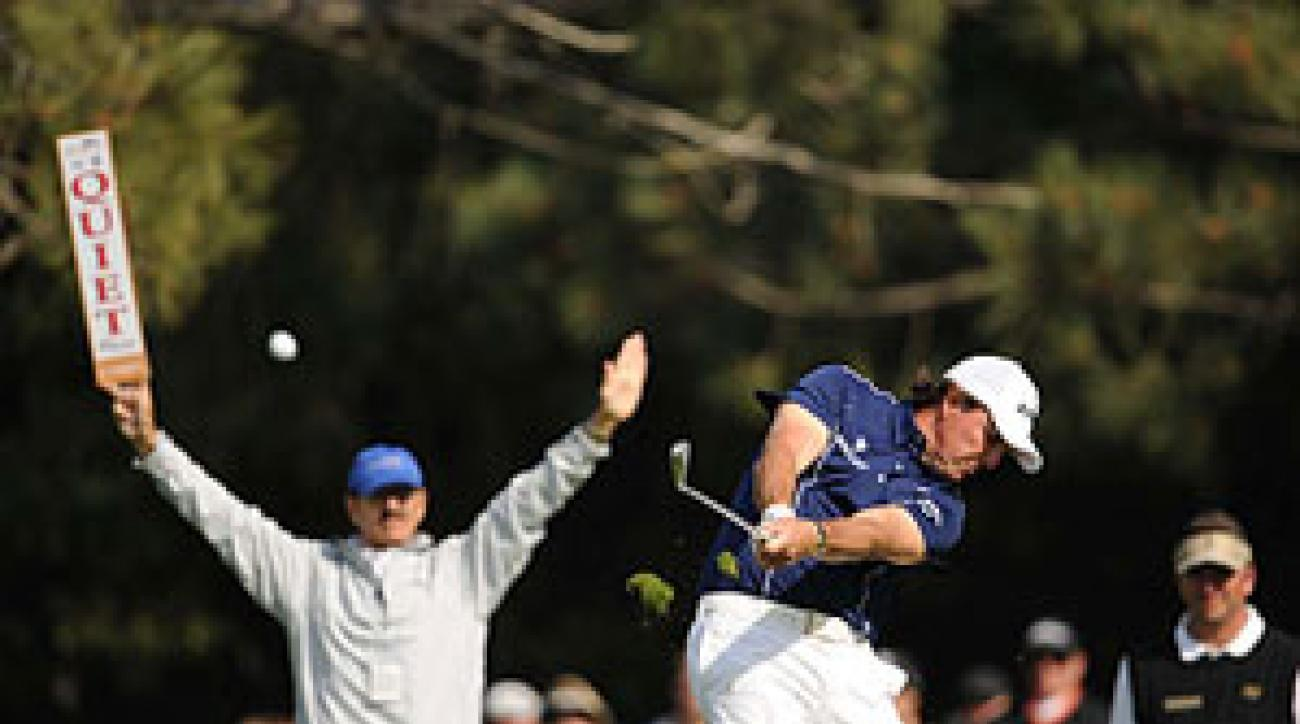 Mickelson spoke his mind on grooves and blamed a slew of sprayed shots on being too amped up for his first start of the year, yet he was sharp enough to contend until slipping to 19th on Sunday.