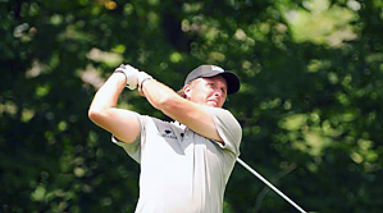 Phil Mickelson on the course at Muirfield Village.
