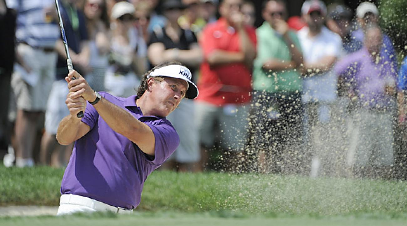 Phil Mickelson withdrew from the Memorial last year after a incident involving a spectator and a cell phone.