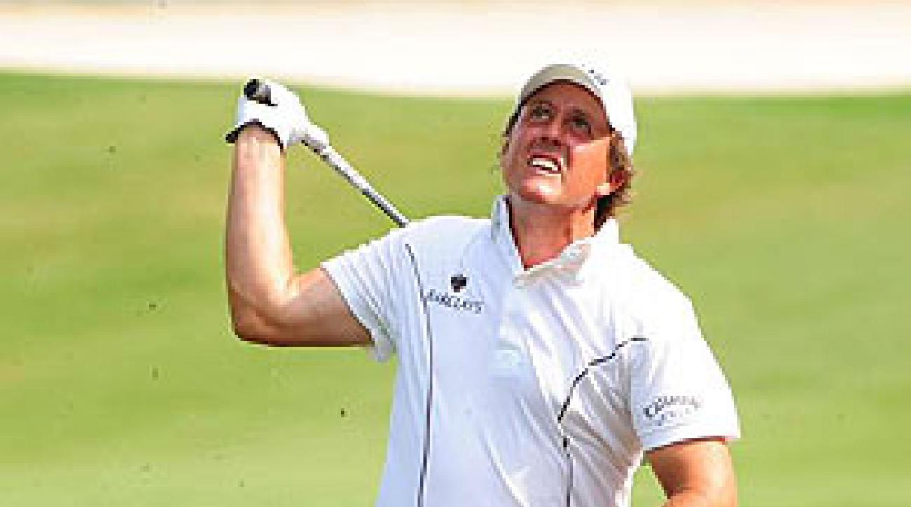 Phil Mickelson shot a one-over 73.
