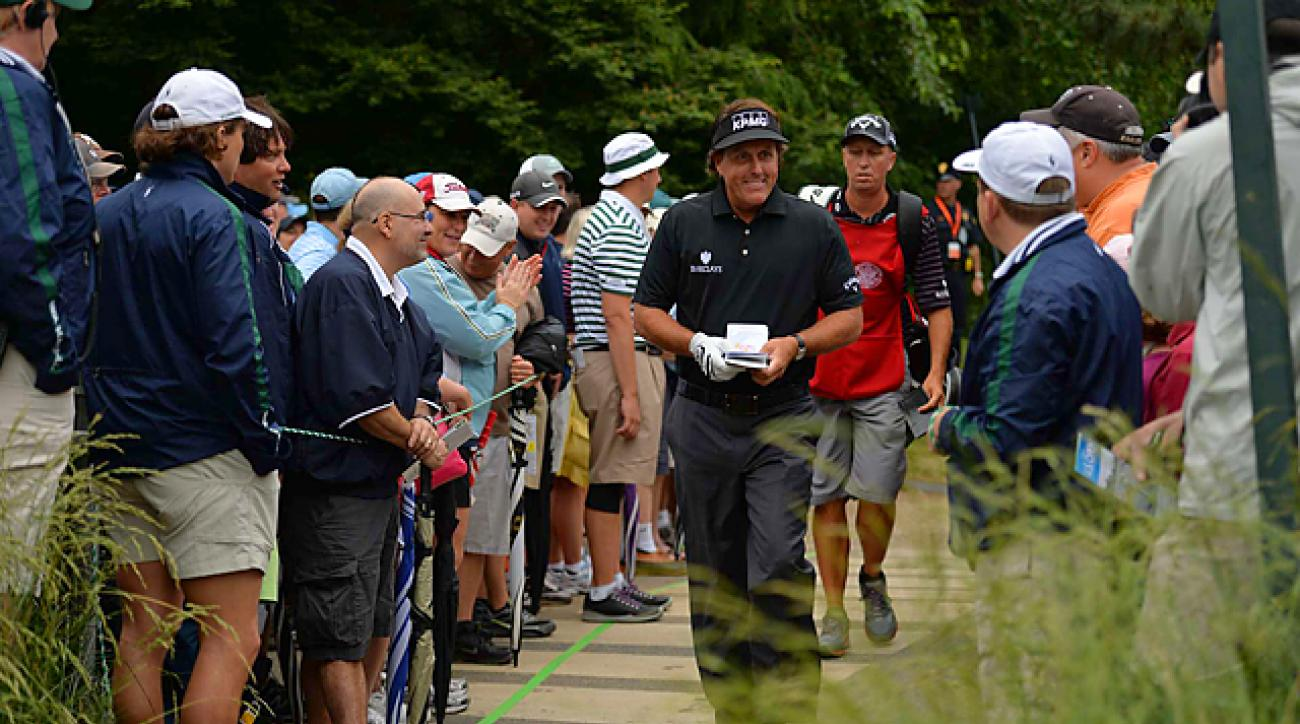 Mickelson fired a three-under 67 on day one.