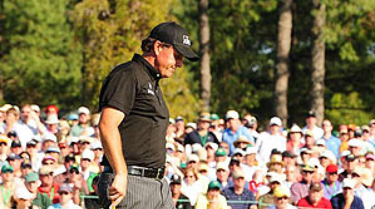 Mickelson shot 30 on the front nine and 37 on the back nine.