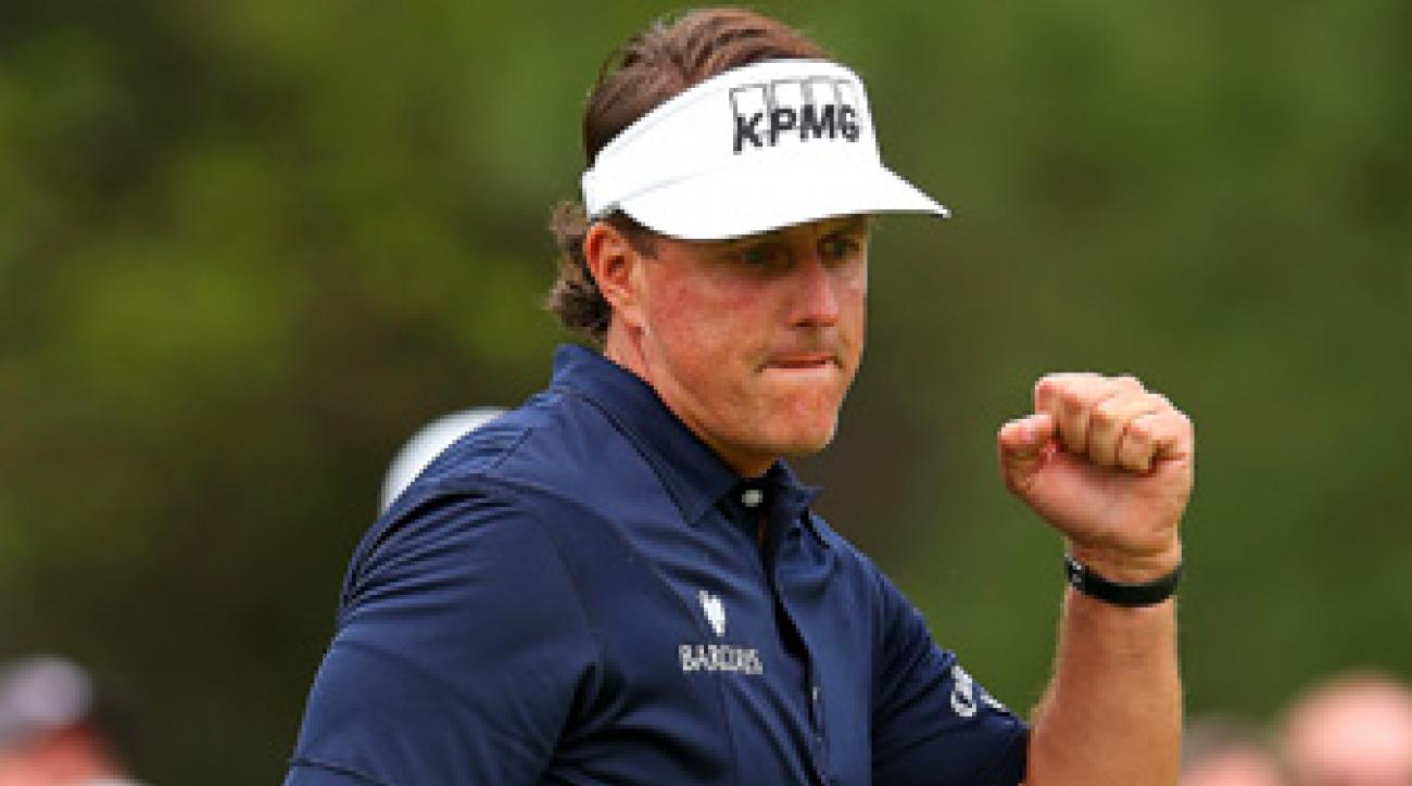 Phil Mickelson made six birdies and one bogey on Friday.