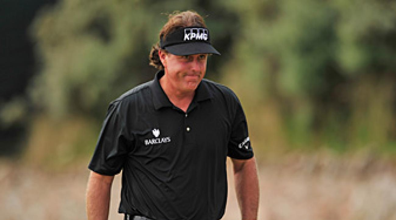 Phil Mickelson shot a two-under 69 on Thursday.