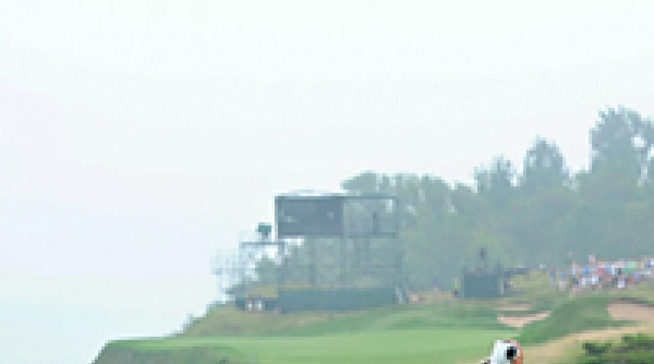 Phil Mickelson, Tuesday at Whistling Straits