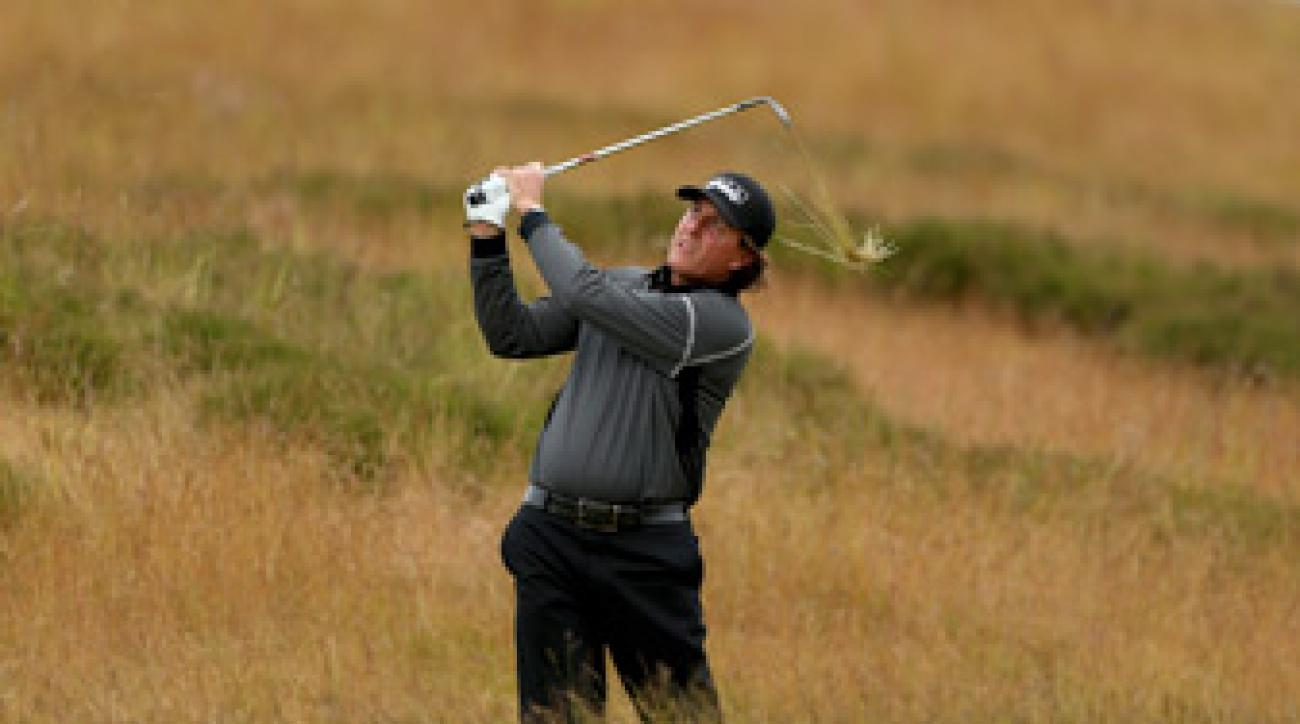 Phil Mickelson shot a 64 Friday at the Scottish Open.