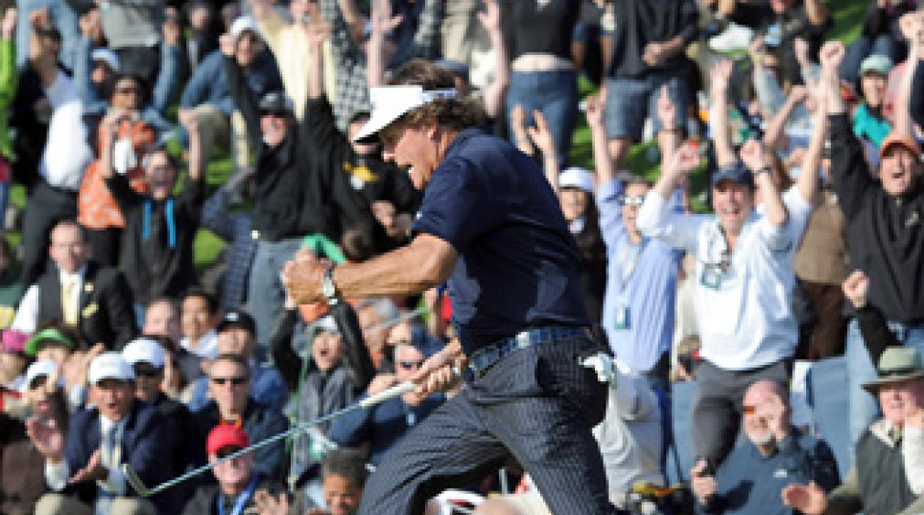 Phil Mickelson lost the 2012 Northern Trust Open in a playoff.