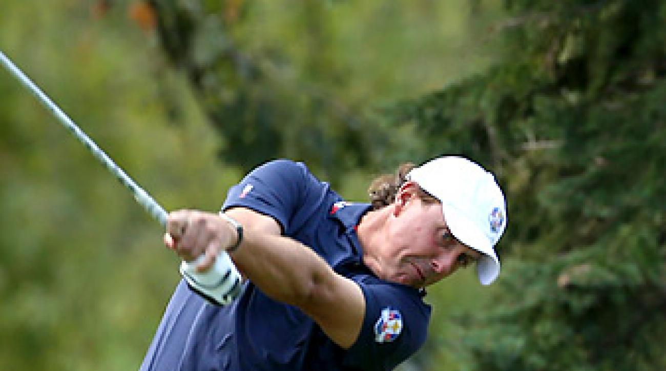 Phil Mickelson shot a 68 on Thursday.