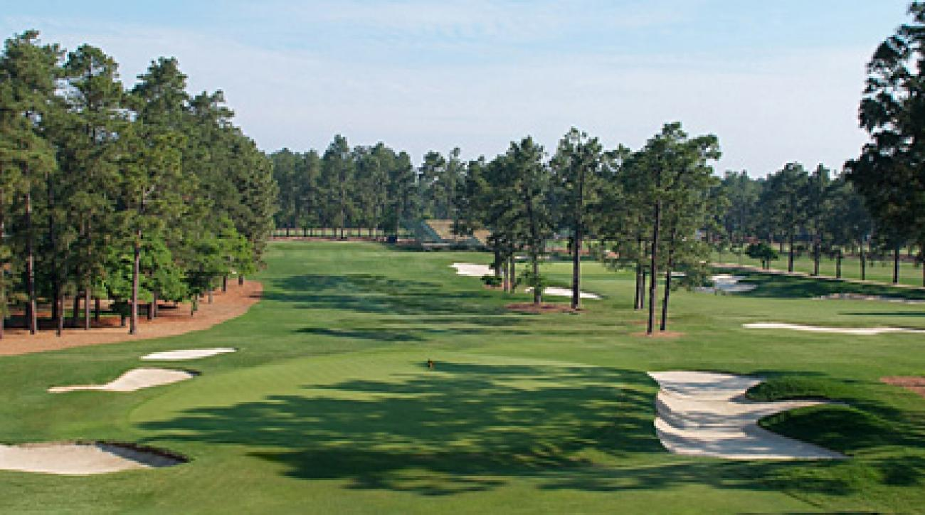 The 17th hole at Pinehurst No. 2.