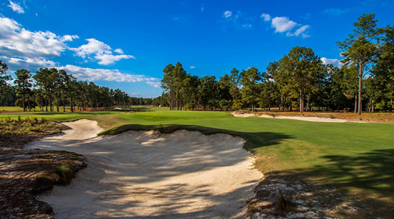 The 15th hole at Pinehurst No. 2.
