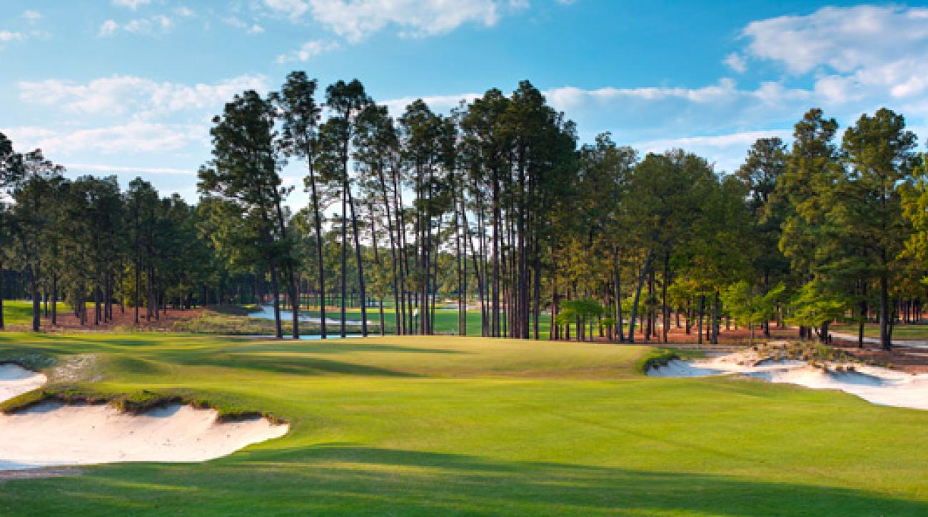 Pinehurst No. 2's par-3 15th has broken many hearts over the years.