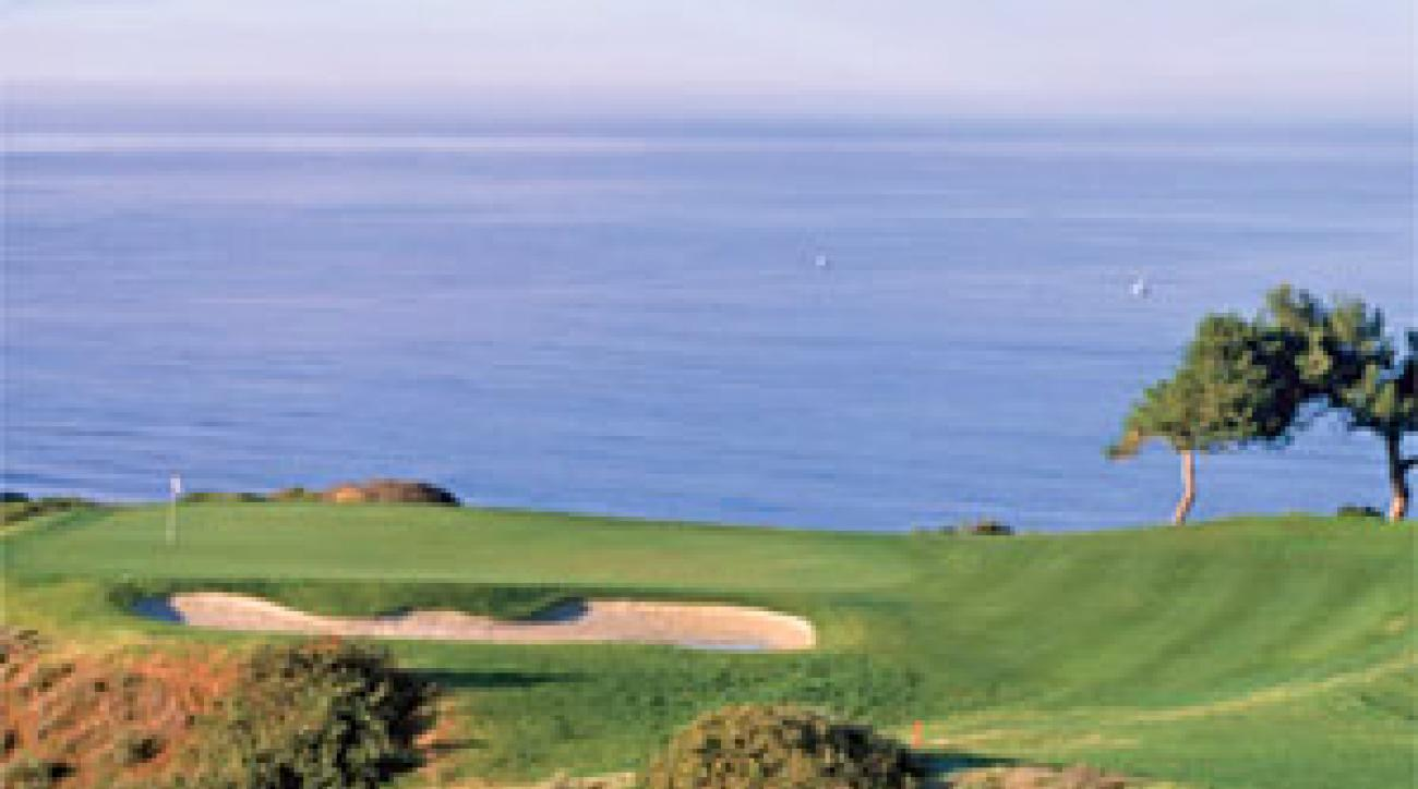 Pacific heights: The 198-yard third hole at Torrey Pines' South Course.