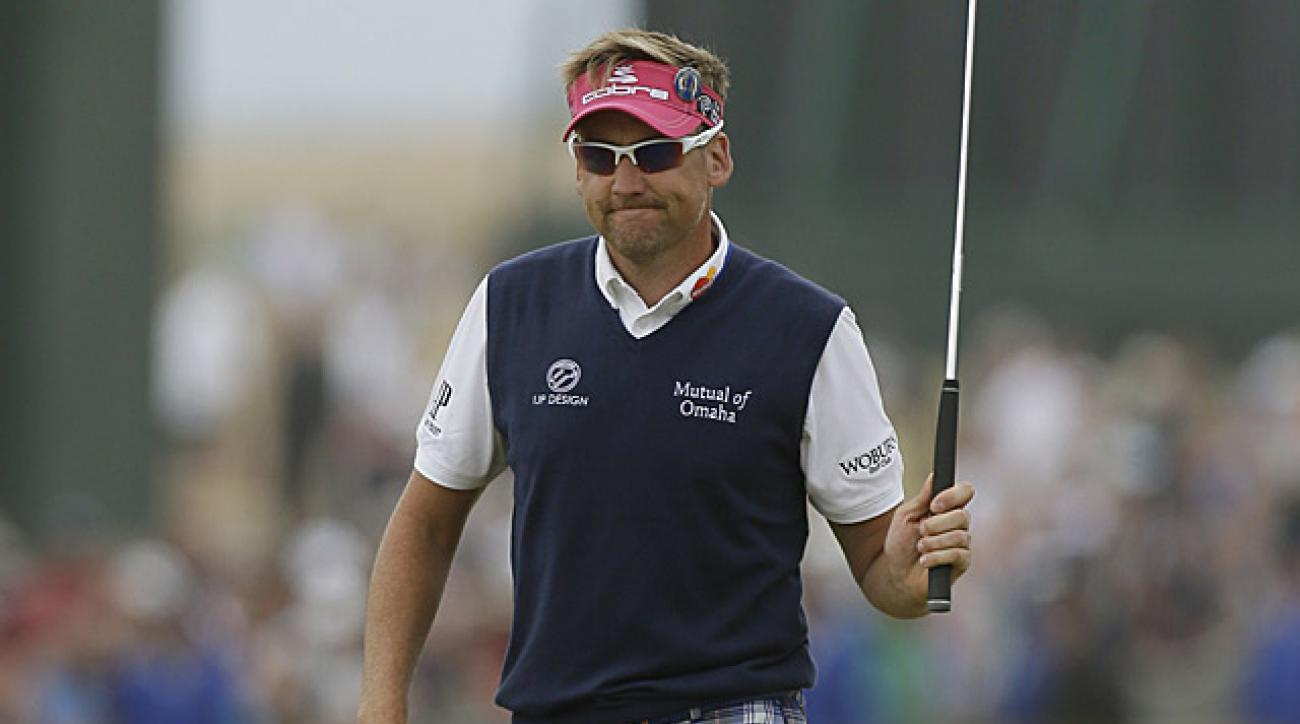 Ian Poulter played holes 9-12 at five under on Sunday.