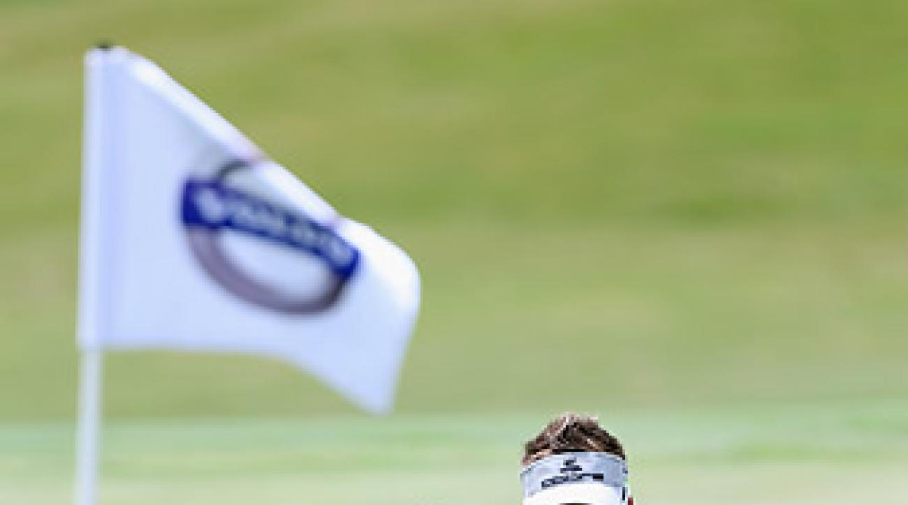 Ian Poulter defeated Tom Lewis 4 and 3 on Friday.