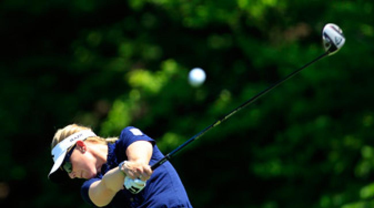 Morgan Pressel beat Anna Nordqvist and Na Yeon Choi on Saturday.