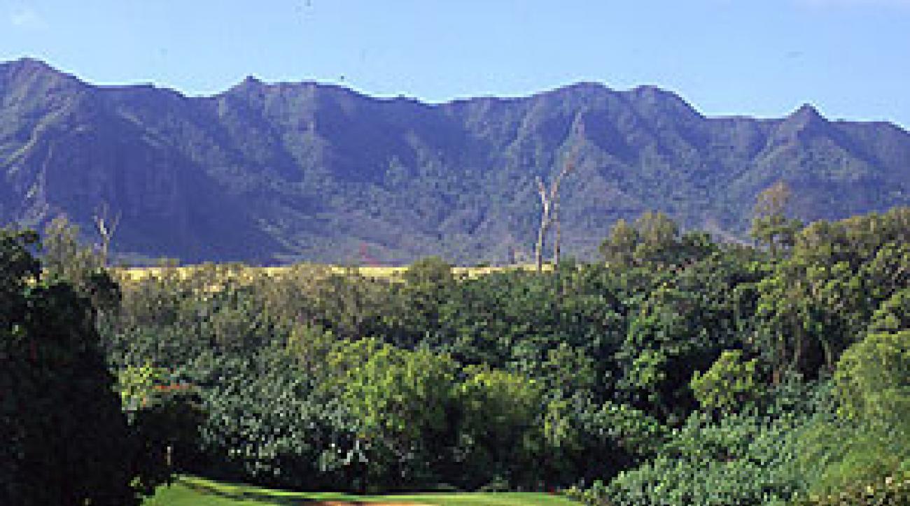 Jurassic par: Puakea Golf Course in Lihue.
