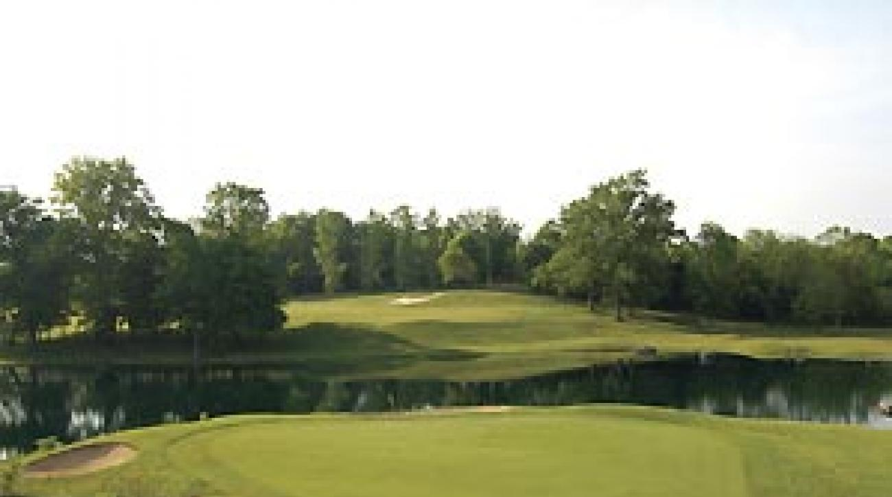 """Long is wrong: The 6th hole at Quail Chase's East Course. <span class=""""picturesource"""">Fred Vuich</span>"""