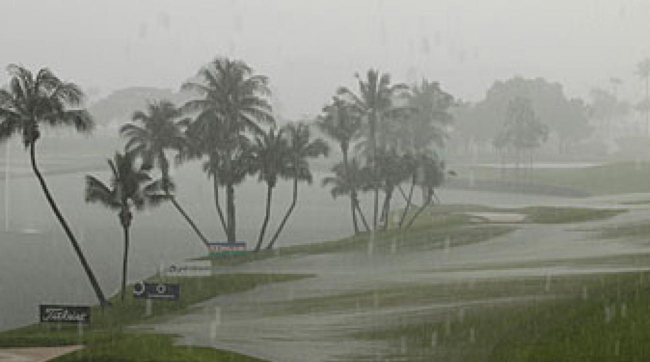 Heavy rain forced officials to reduce the tournament to 54 holes.