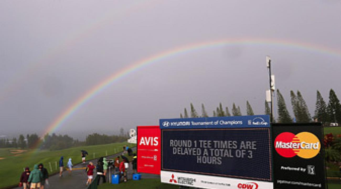 There was no golf Saturday at the Plantation Course, but there were plenty of rainbows.