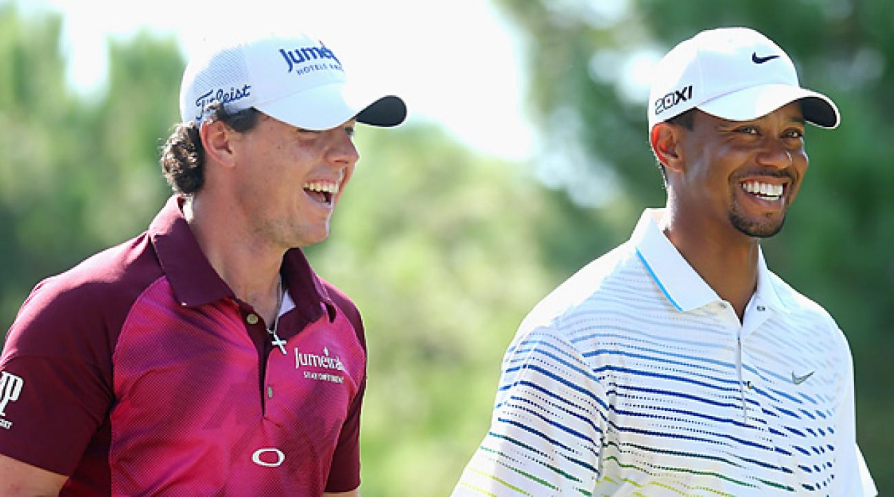 McIlroy and Woods won a combined seven times on Tour in 2012.