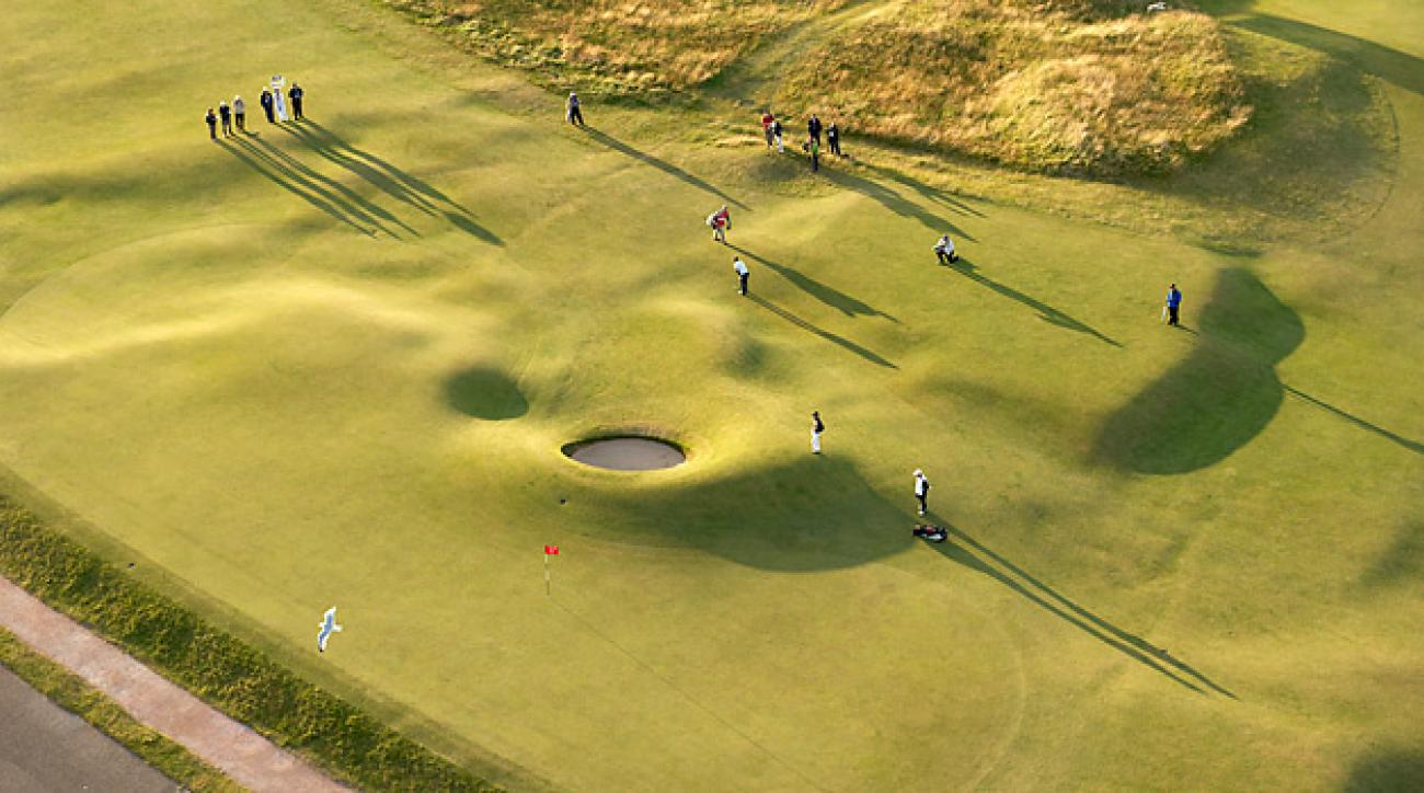 """Proposed new changes to the Old Course include new contouring in front of the """"Road Hole"""" green."""