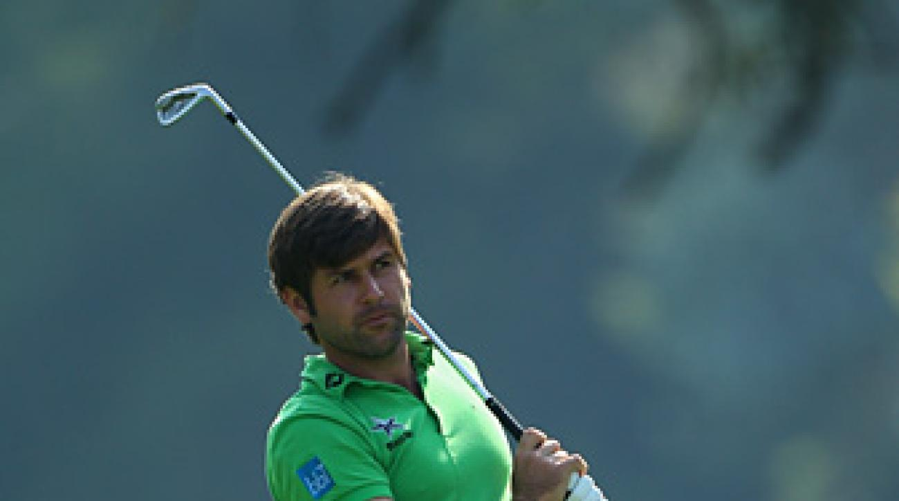 Robert Rock shot a four-under 67 to take the lead.