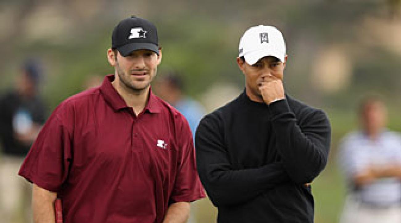 Tony Romo and Tiger Woods are pro-am partners this week.