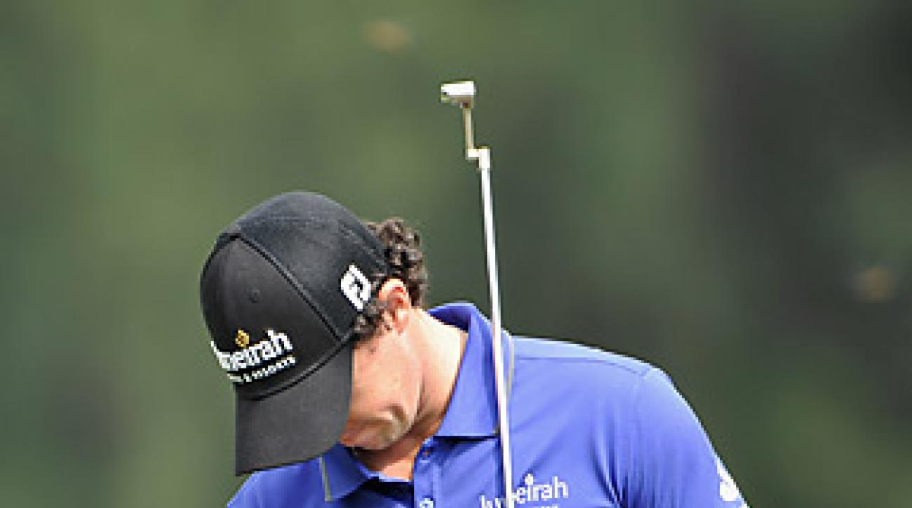 Rory McIlroy missed the cut after shooting a 72 in the second round.
