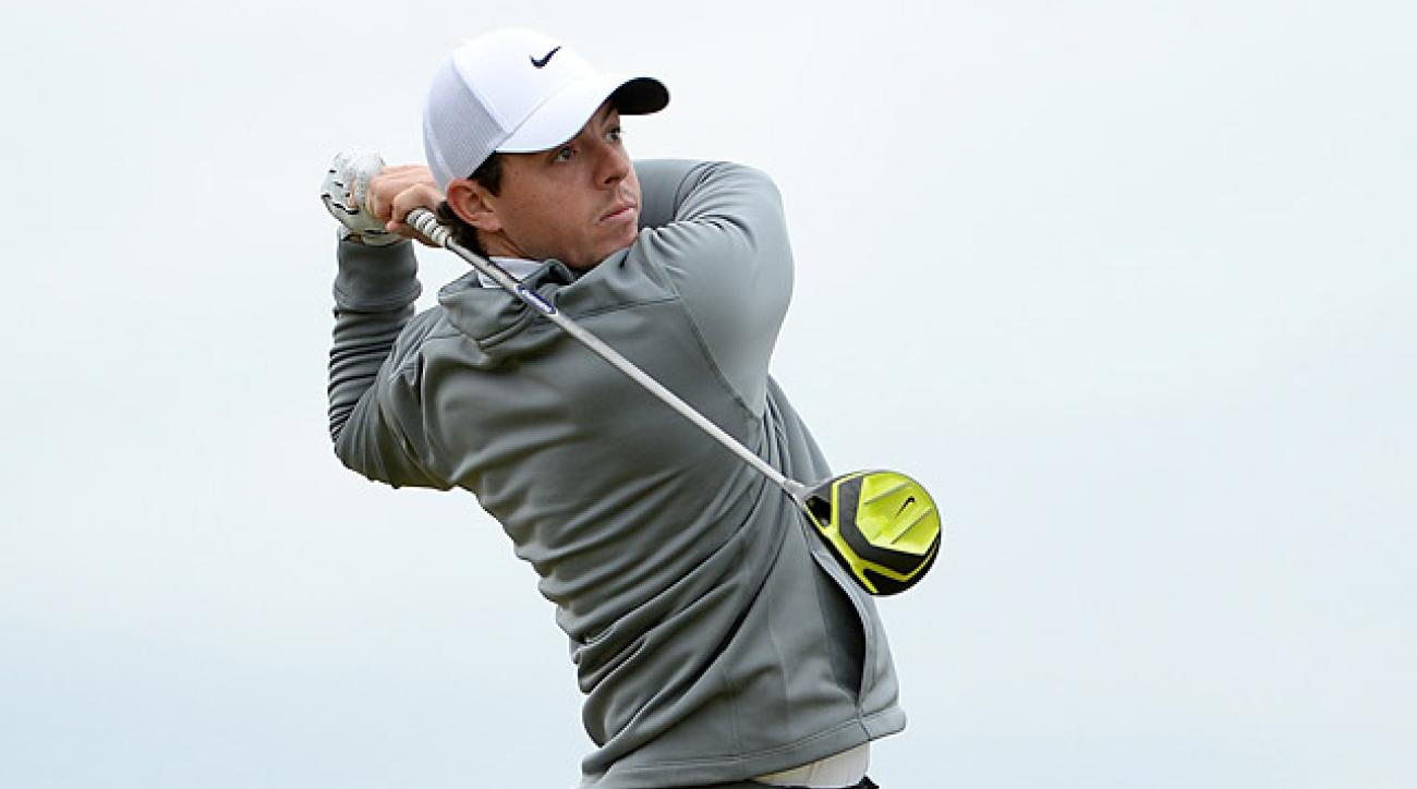 Rory McIlroy shot a 67 at Kingsbarns in the second round.