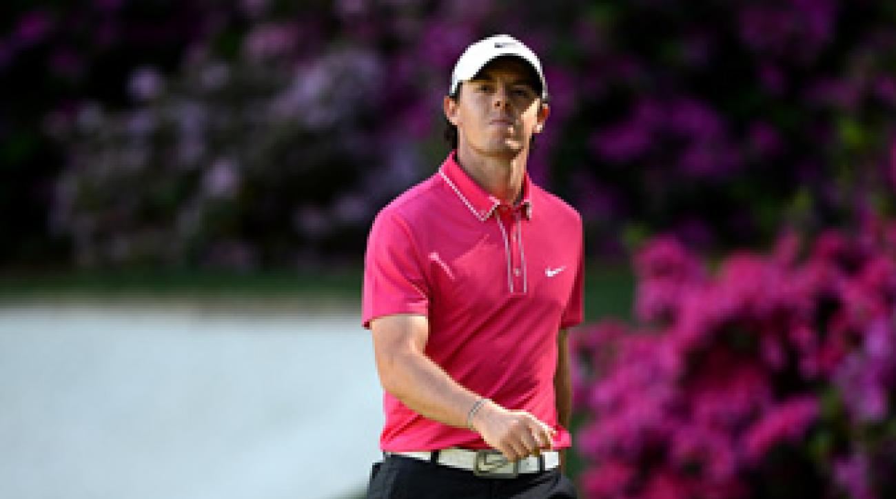 Rory McIlroy shot a seven-over 79 on Saturday.