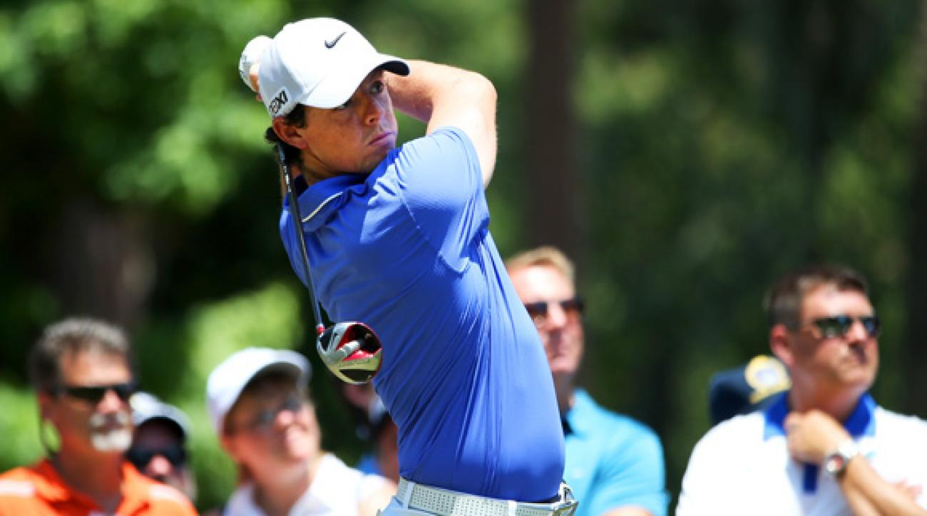 Rory McIlroy is five shots off the lead heading into the weekend.