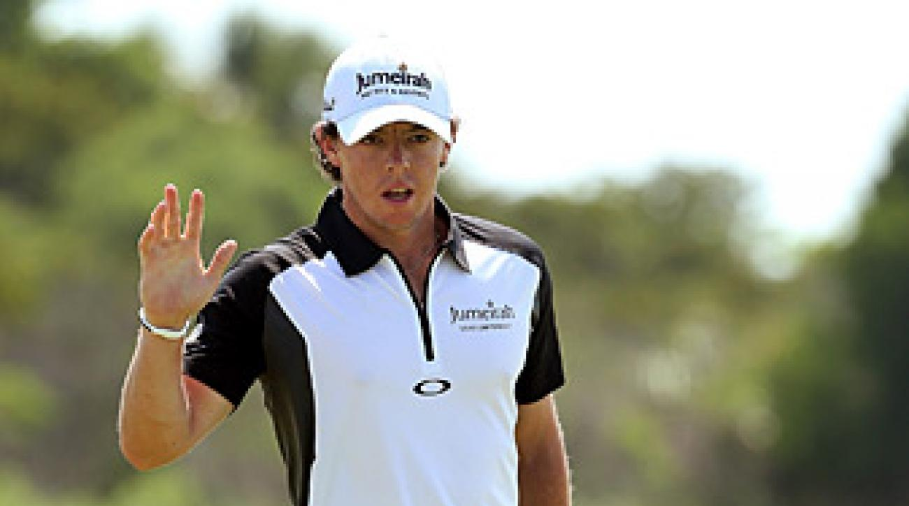 Rory McIlroy shot a four-under 32 on the front nine.