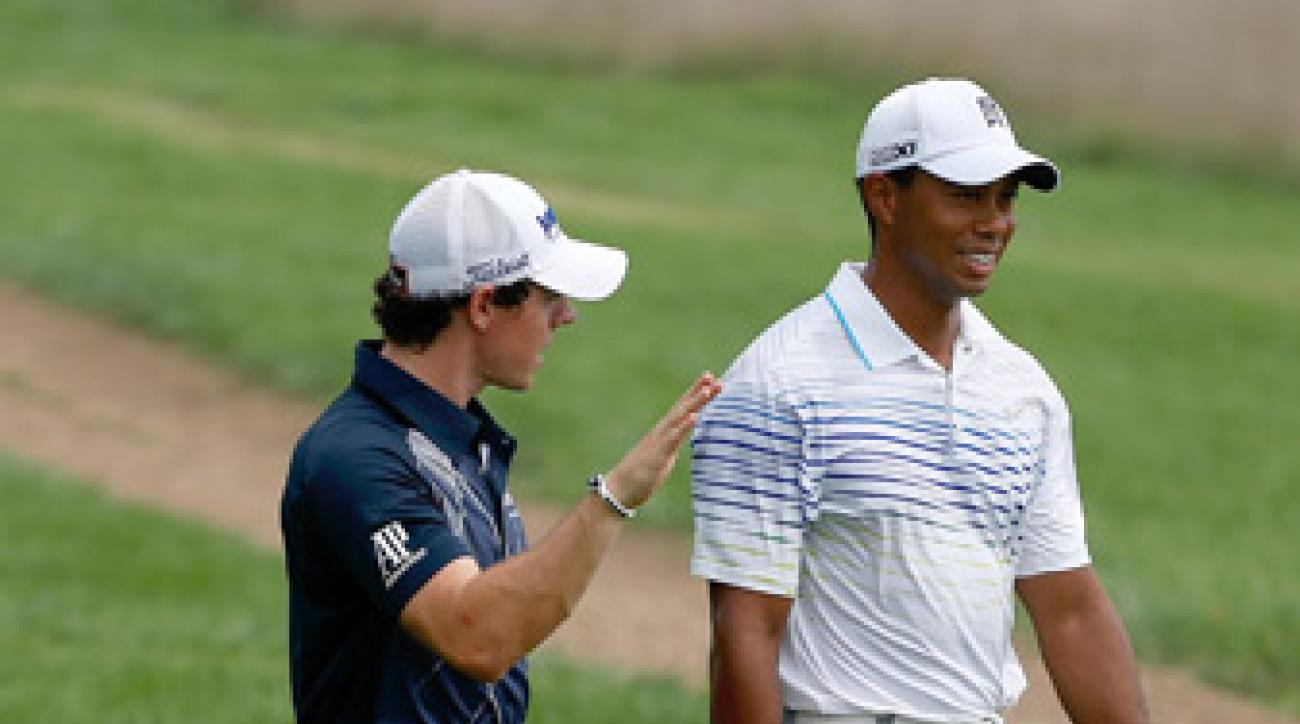 Tiger Woods and Rory McIlroy were paired together for the first two rounds.