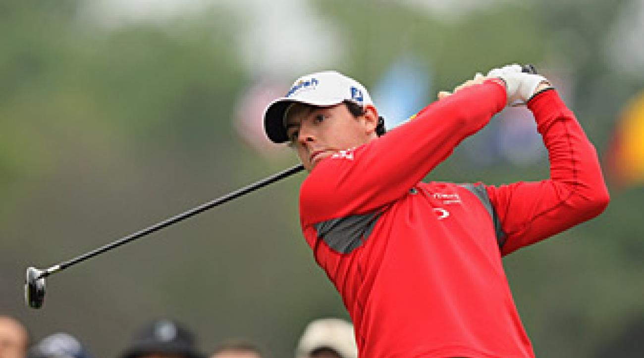 Rory McIlroy failed to make a birdie on Friday.