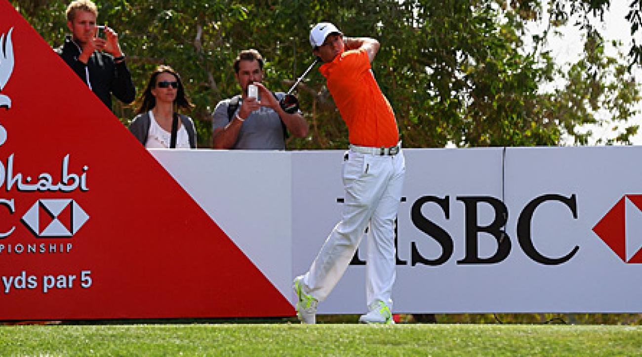 Rory McIlroy will play his first competitive round with his new Nike clubs on Thursday.