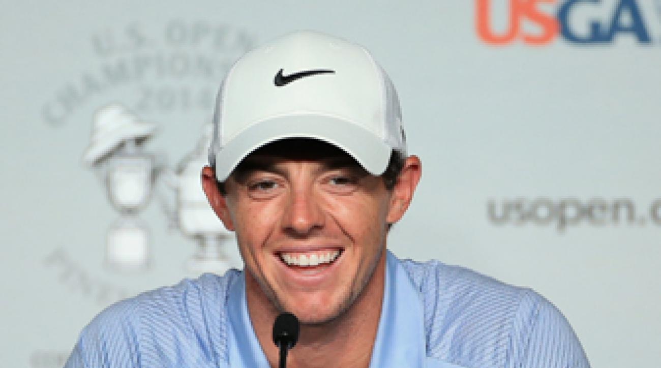 Rory McIlroy was all smiles at his pre-U.S. Open press conference on Wednesday.
