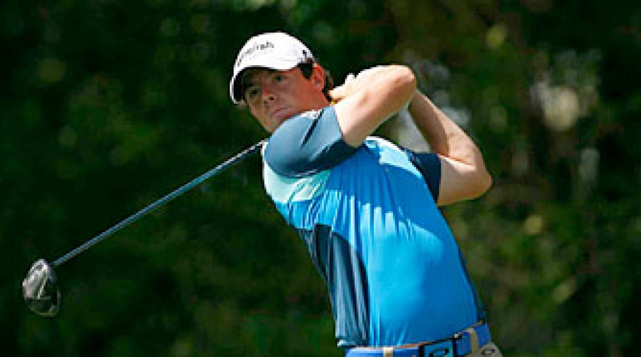 Rory McIlroy is one shot off the lead after two rounds.