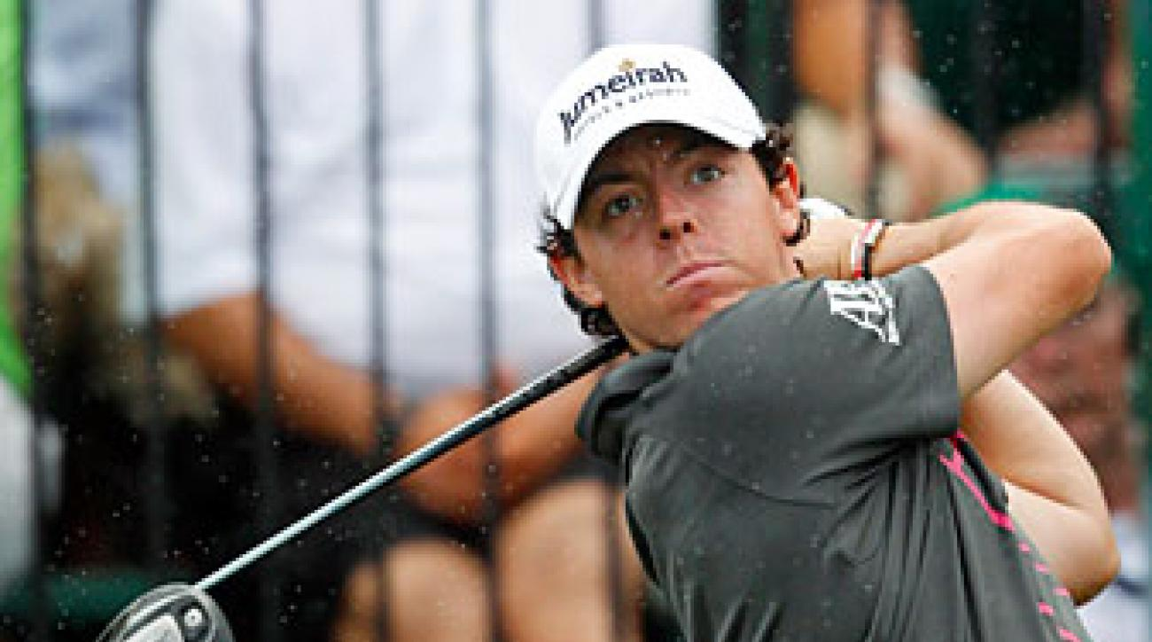 Rory McIlroy finished third on Sunday.