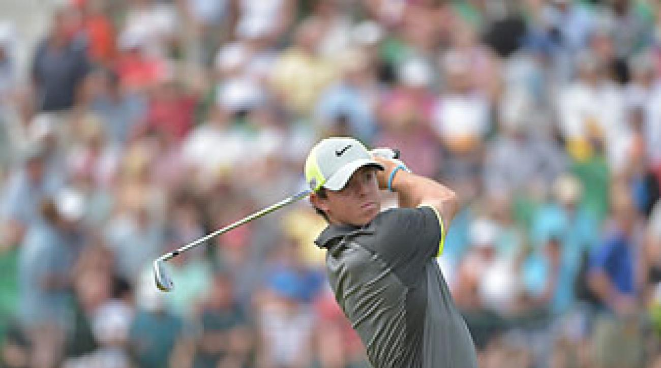 Rory McIlroy during the second round of the British Open. He is 12-under par and has a four-shot lead over Dustin Johnson after 36 holes.