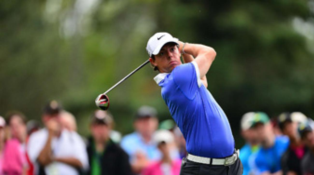 Rory McIlroy made five birdies and five bogeys on Thursday.