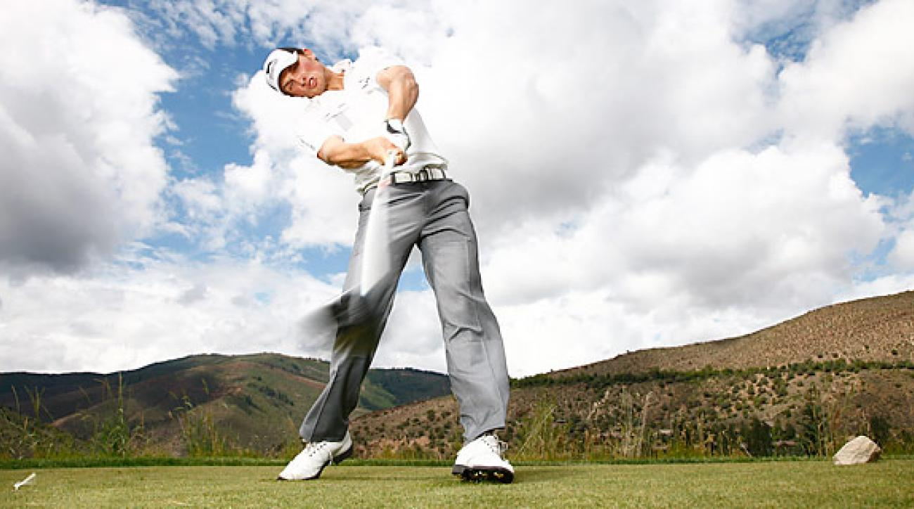Former Long Drive champion Jamie Sadlowski lost in the quarterfinals.