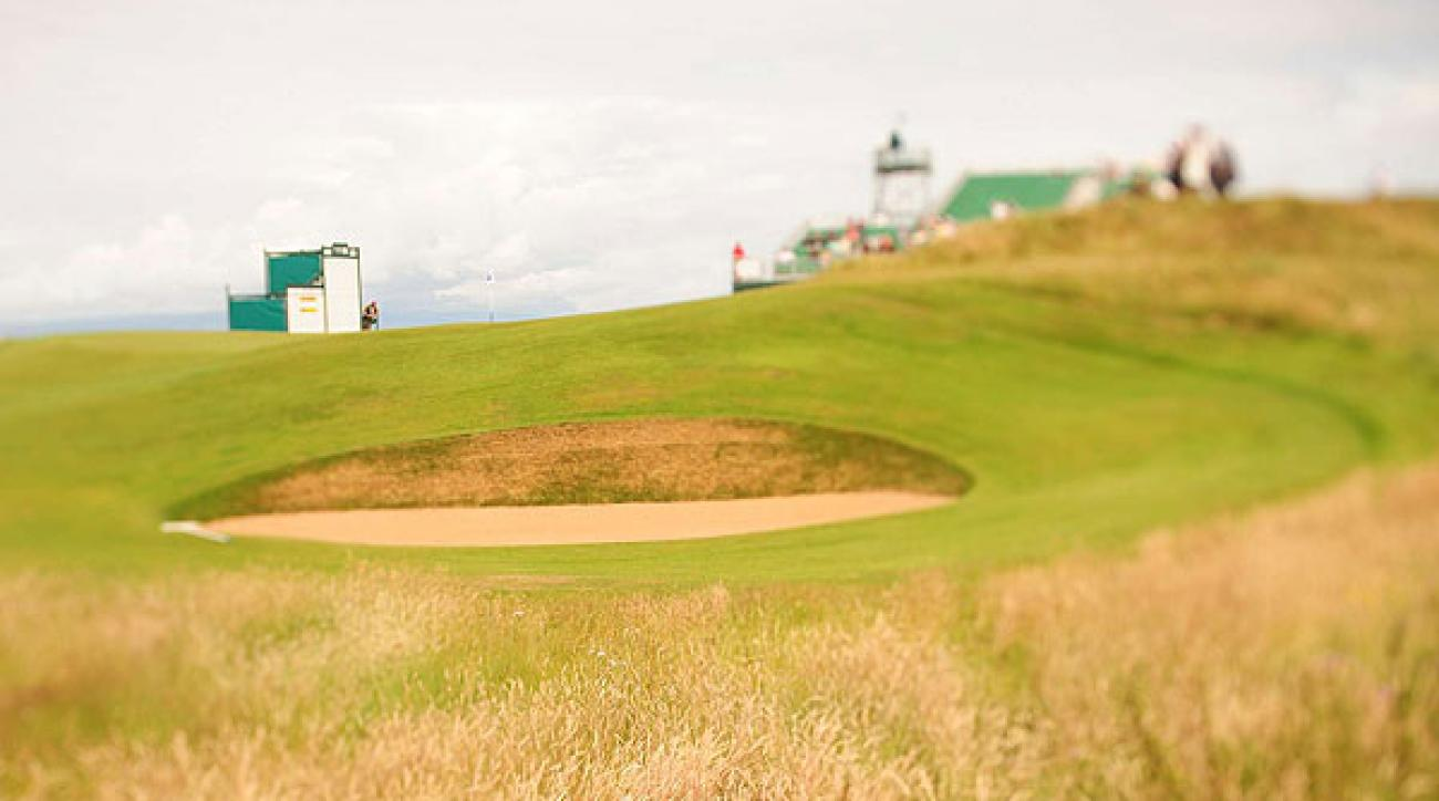 Landing in a bunker at a links course is pretty much as bad as a water hazard on a regular course.