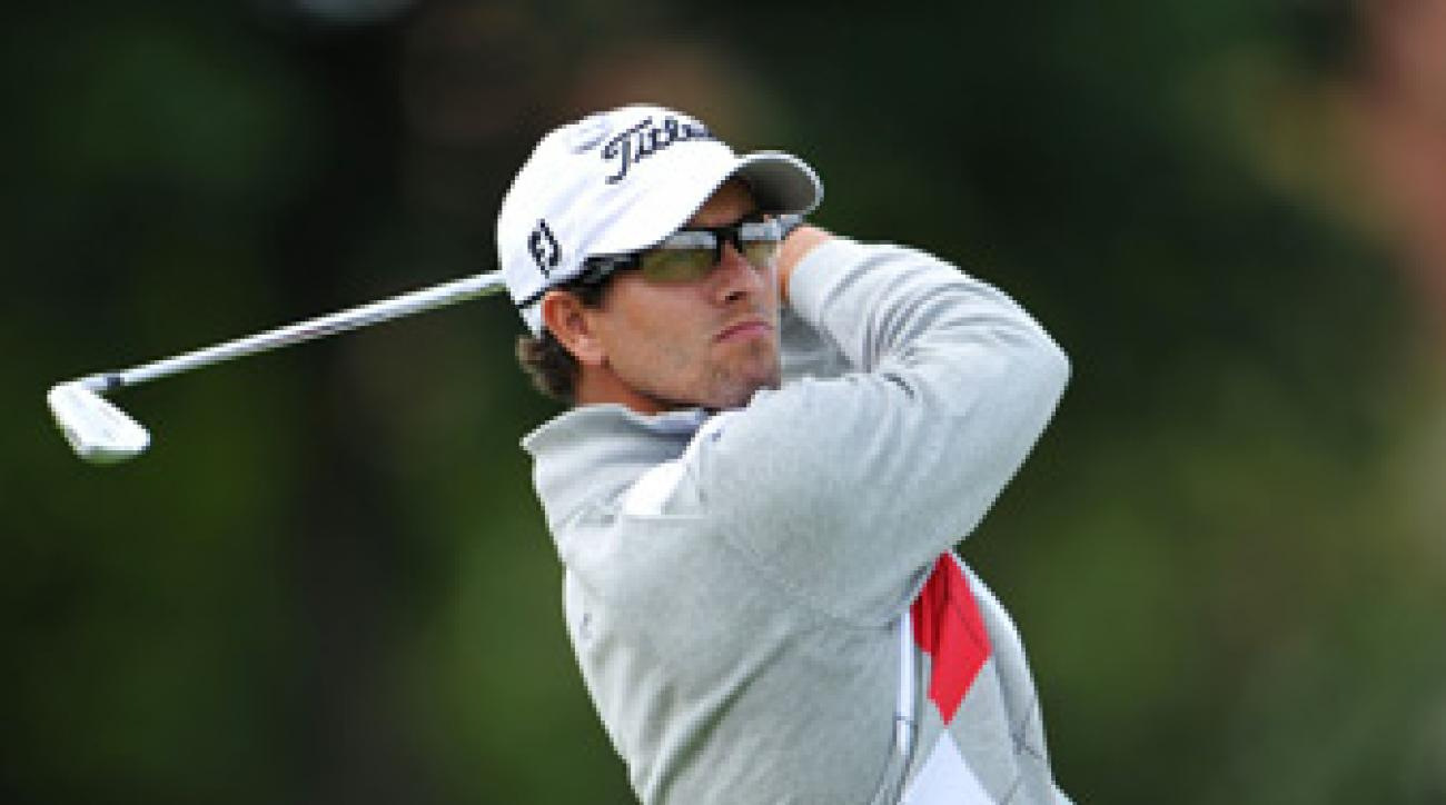 Adam Scott made eight birdies and two bogeys.