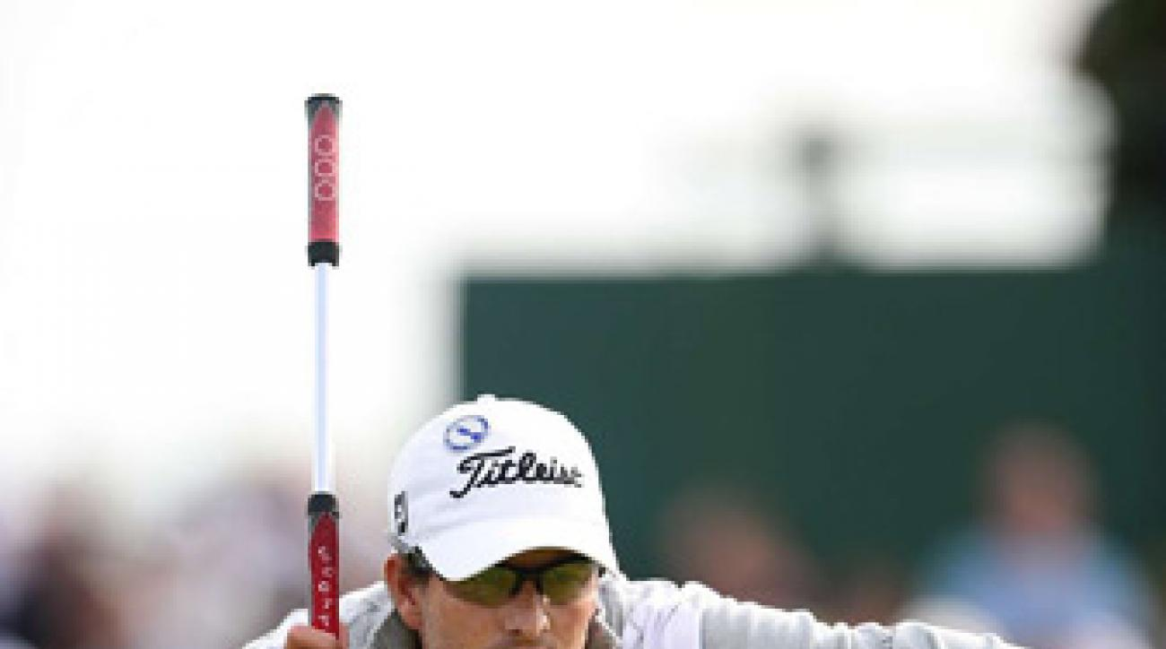 Adam Scott has been contending more in majors since he switched to a long putter.
