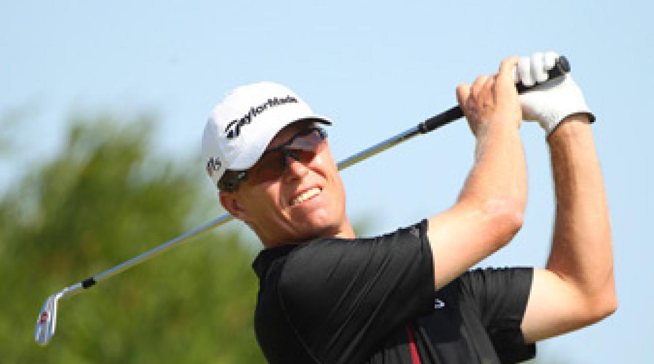John Senden made an eagle, three birdies and three bogeys on Saturday.