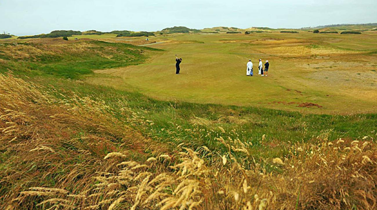HEAVY DUTY: On the back nine at subtle and scrumptious Old Macdonald—a tribute to Golden Age architect C.B. Macdonald, and the newest course at Bandon—fatigue began to set in.