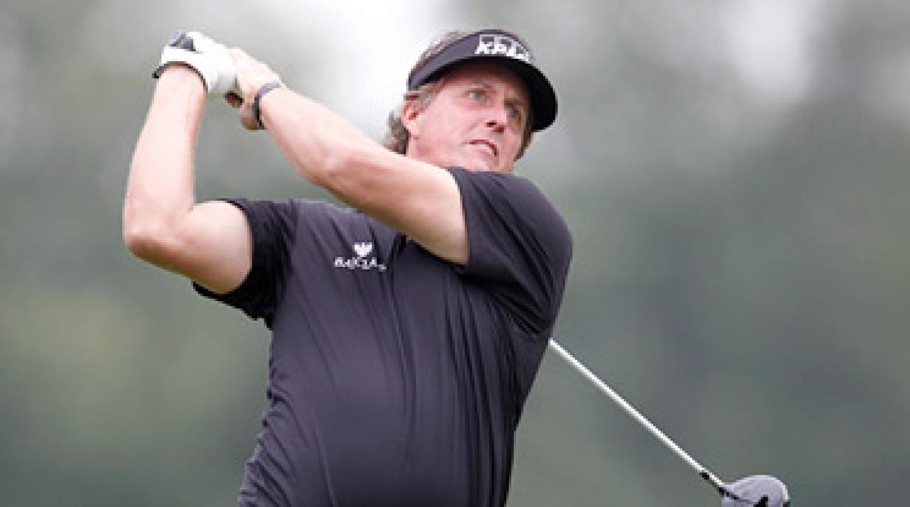 Phil Mickelson struggled in the first round after panning the redesign at Cog Hill earlier in the week.
